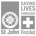 St-John-First-Aid-combined-Logo-Square-grey-and-white